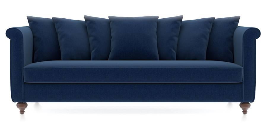 Marlene Sofa (Cobalt Blue) (Cobalt, Fabric Sofa Material, Regular Sofa Size, Regular Sofa Type) by Urban Ladder