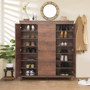 Zanotti 32 pair shoe cabinet (Walnut Finish)