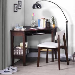 Collins Corner Study Table (Dark Walnut Finish)