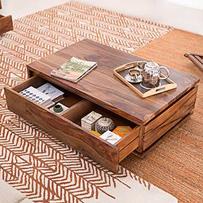 Vector Storage Coffee Table (Teak Finish)
