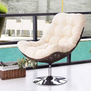 Calabah Swivel Lounge Chair (Cream)