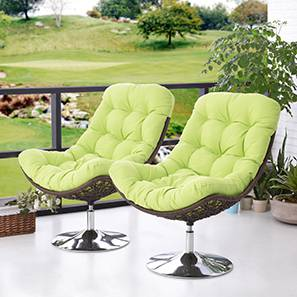 Calabah Swivel Lounge Chair - Set Of 2 (Green)