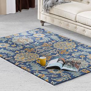 Sardis Hand Tufted Carpet 60 X 93 Size Prussian Blue