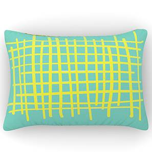 "Doodle Man Cushion Cover (12"" X 18"" Cushion Size, Checky Pattern)"