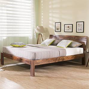 Boston Bed (Teak Finish, Queen Bed Size)