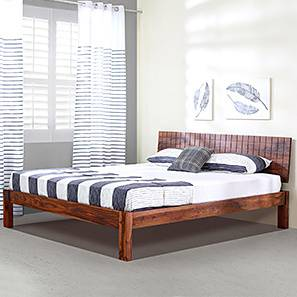 Valencia Bed (Teak Finish, Queen Bed Size)