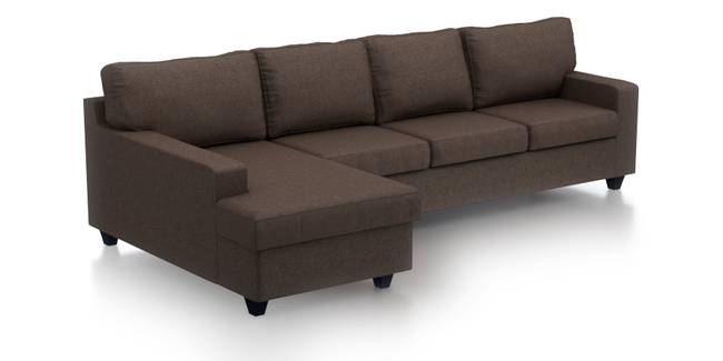 Walton Sectional Sofa (Mocha) (Mocha, Fabric Sofa Material, Regular Sofa Size, Sectional Sofa Type)
