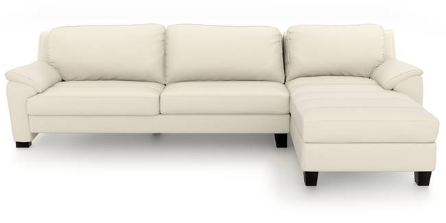 Farina Sectional Sofa (Milk Italian Leather) (Milk, Regular Sofa Size, Sectional Sofa Type, Leather Sofa Material)