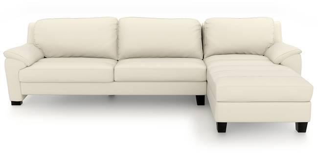 Farina Sectional Sofa (Milk Italian Leather) (Milk, Regular Sofa Size, Sectional Sofa Type, Leather Sofa Material)