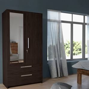 Domenico Wardrobe (Two Door, Yes Mirror, With Drawer Configuration)