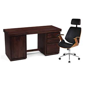 Vector - Ray Executive Study Set (Mahogany Finish, Black)