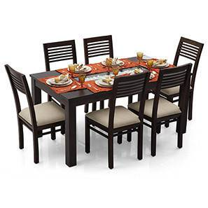 brighton zella 6 seater dining table set - Dining Table With Chairs