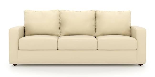 Apollo Sofa (Cream, Leatherette Sofa Material, Compact Sofa Size, Soft Cushion Type, Regular Sofa Type, Master Sofa Component)
