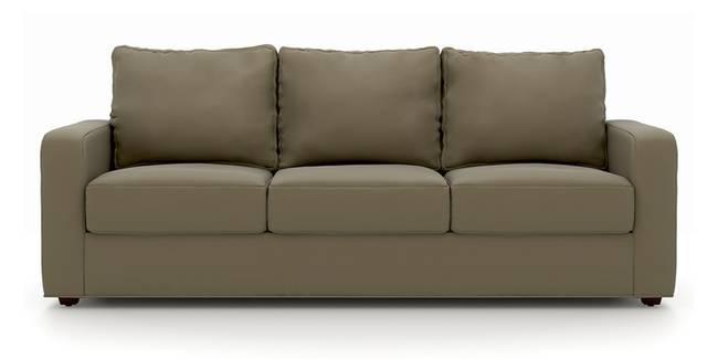 Apollo Sofa (Cappuccino, Leatherette Sofa Material, Compact Sofa Size, Soft Cushion Type, Regular Sofa Type, Master Sofa Component)