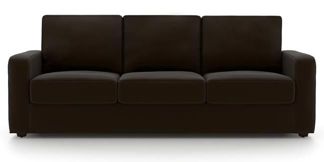 Apollo Sofa (Chocolate, Leatherette Sofa Material, Regular Sofa Size, Soft Cushion Type, Regular Sofa Type, Master Sofa Component)