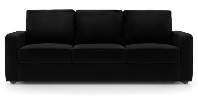 Apollo Sofa (Licorice, Leatherette Sofa Material, Regular Sofa Size, Soft Cushion Type, Regular Sofa Type, Master Sofa Component)
