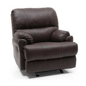 Cooper Rocker Recliner (Chocolate, Leatherette Material)