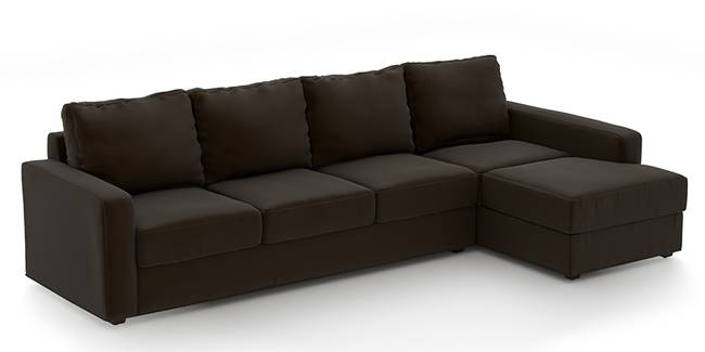 Apollo Sofa (Chocolate, Leatherette Sofa Material, Regular Sofa Size, Soft Cushion Type, Sectional Sofa Type, Sectional Master Sofa Component)