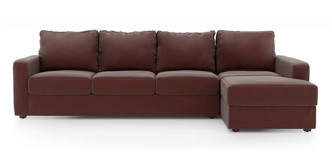 Apollo Sofa (Burgundy, Leatherette Sofa Material, Regular Sofa Size, Soft Cushion Type, Sectional Sofa Type, Sectional Master Sofa Component)