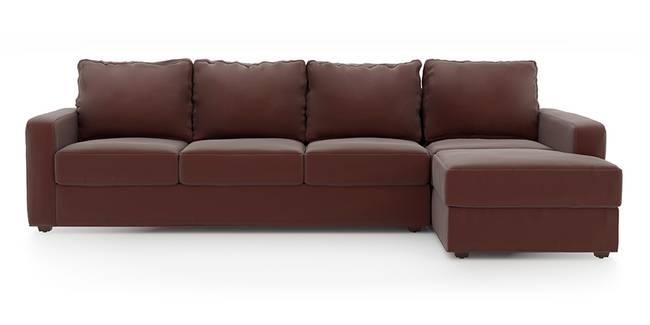Apollo Sofa (Burgundy, Leatherette Sofa Material, Regular Sofa Size, Soft Cushion Type, Sectional Sofa Type, Sectional Master Sofa Component)