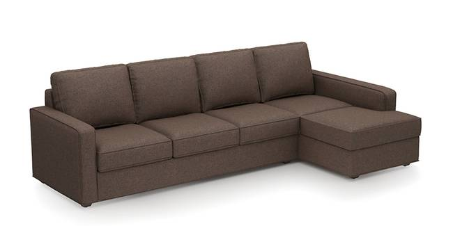 Apollo Sofa (Mocha, Fabric Sofa Material, Compact Sofa Size, Soft Cushion Firmness, Sectional Sofa Type, Sectional Master Sofa Component)