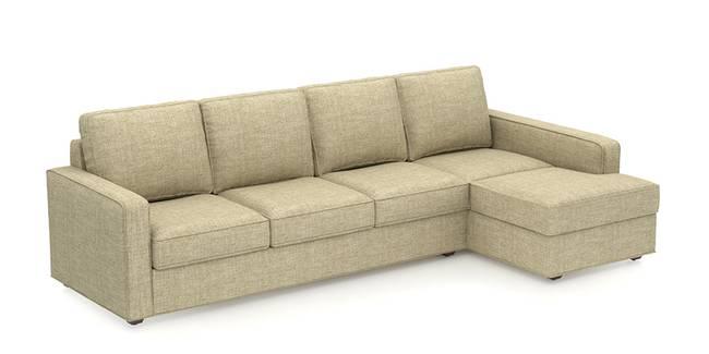 Apollo Sofa (Sandstorm, Fabric Sofa Material, Compact Sofa Size, Soft Cushion Type, Sectional Sofa Type, Sectional Master Sofa Component)