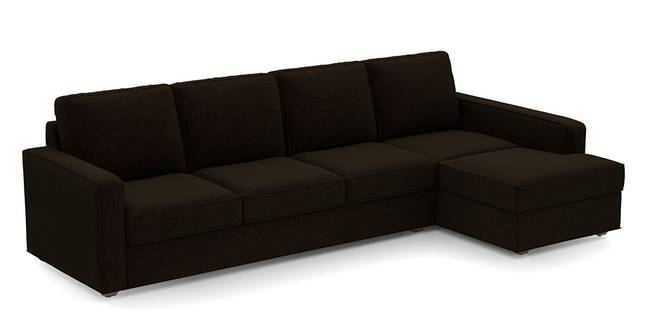 Apollo Sofa (Dark Earth, Fabric Sofa Material, Regular Sofa Size, Soft Cushion Firmness, Sectional Sofa Type, Sectional Master Sofa Component)