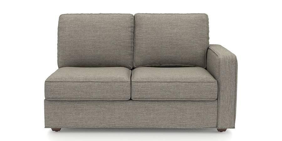 Apollo Sofa Set (Mist, Fabric Sofa Material, Regular Sofa Size, Soft Cushion Type, Sectional Sofa Type, Right Aligned 2 Seater Sofa Component) by Urban Ladder
