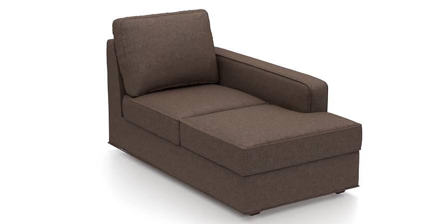 Apollo Sofa Set (Mocha, Fabric Sofa Material, Regular Sofa Size, Soft Cushion Type, Sectional Sofa Type, Right Aligned Chaise Sofa Component) by Urban Ladder