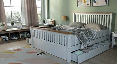 Athens storage bed queen wh 14