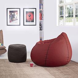 Baggo leatherette beanbag lounge set 00 lp