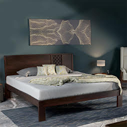 Bed designs buy latest modern designer beds urban ladder for Latest double bed designs with box
