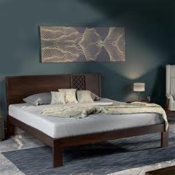Bed designs buy latest modern designer beds urban ladder for Wooden bed designs pictures interior design