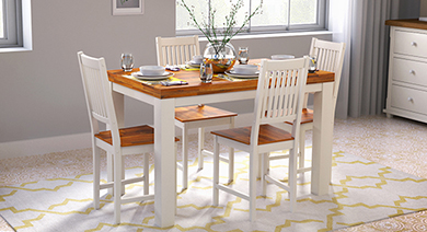 Nashville 4 seater dining table set golden oak 01