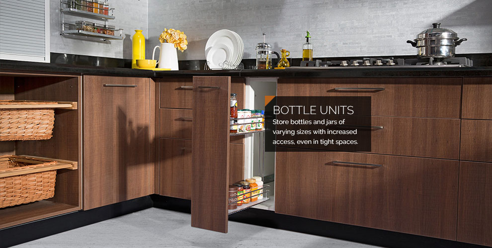Modular Kitchen Units - Bottle Pull outs