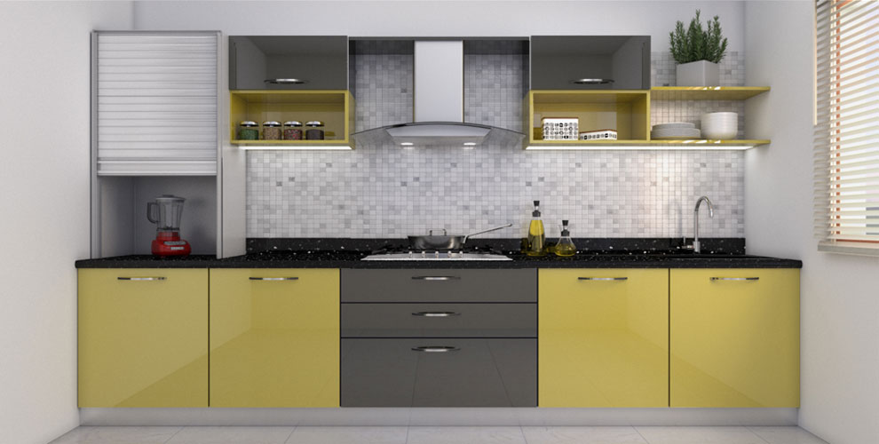 Modular kitchen design check designs price photos buy for Online modular kitchen designs