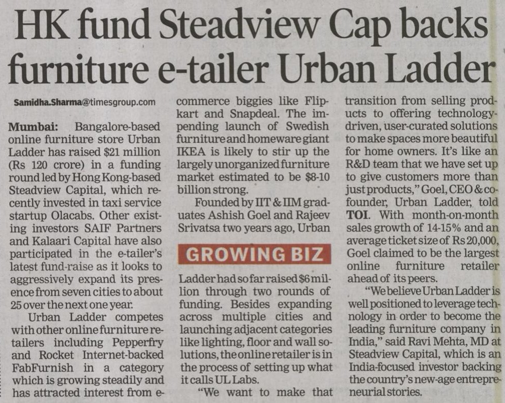 Toi funding business page