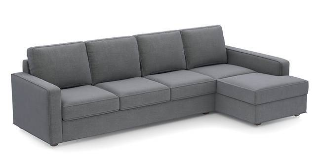 Apollo Sofa Set (Smoke, Fabric Sofa Material, Regular Sofa Size, Soft Cushion Type, Sectional Sofa Type, Sectional Master Sofa Component)
