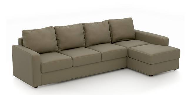 Apollo Sofa Set (Cappuccino, Leatherette Sofa Material, Compact Sofa Size,  Soft Cushion