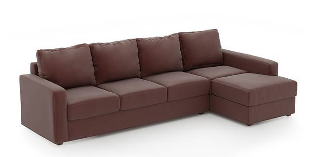 Apollo Sofa Set (Burgundy, Leatherette Sofa Material, Compact Sofa Size, Soft Cushion Type, Sectional Sofa Type, Sectional Master Sofa Component, Regular Back Type, Regular Back Height)