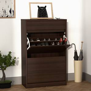 Pointe Shoe Cabinet (Dark Walnut Finish, With Drawer Configuration, 9 Pair Capacity)