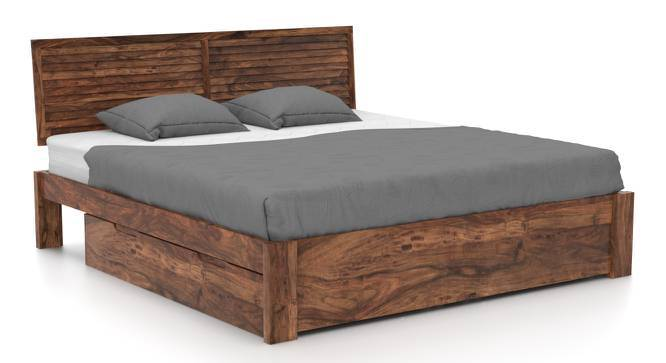 Terence Storage Essential Bedroom Set (Teak Finish, King Bed Size) by Urban Ladder