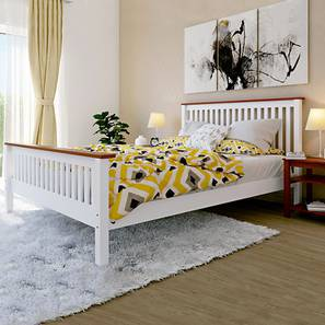 Athens Bed (Queen Bed Size, White Finish)