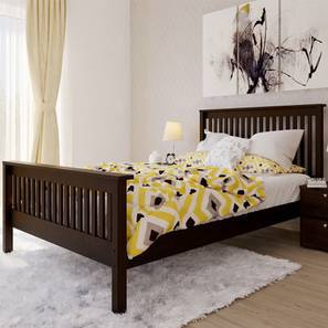 Athens Bed (Queen Bed Size, Dark Walnut Finish)