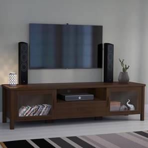 Norland TV Unit (Walnut Finish, Large Size, With Glass Configuration)