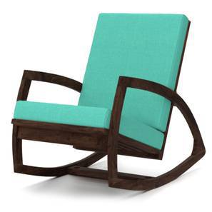 Dylan Rocking Chair (Mahogany Finish, Lagoon Green)