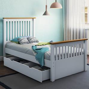 Athens Storage Single Bed (Single Bed Size, White Finish)