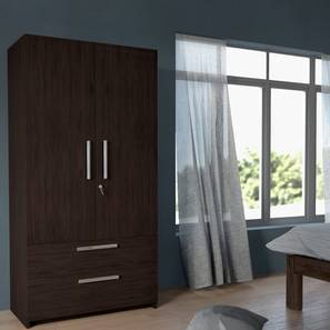 Domenico Wardrobe (Two Door, No Mirror, With Drawer Configuration) by Urban Ladder