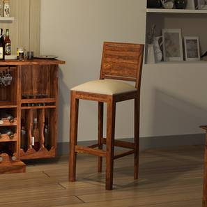 Oribi Bar Chair (Teak Finish, Wheat Brown)