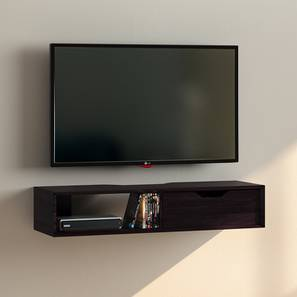Sawyer Wall Mounted TV Unit (Mahogany Finish, With Drawer Configuration)
